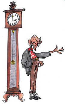 grandfather and his clock