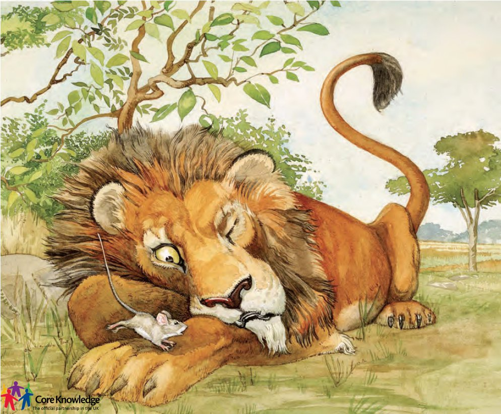 Lion And The Mouse Clipart Core knowledge uk image library - year one