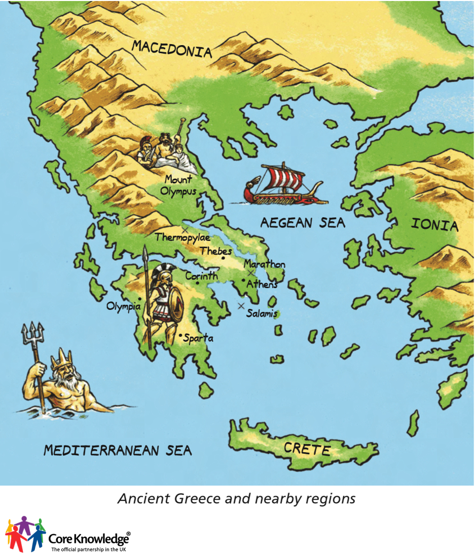 Ancient Greece Map With Cities.Year 3 Ancient Greece 5 Lessons