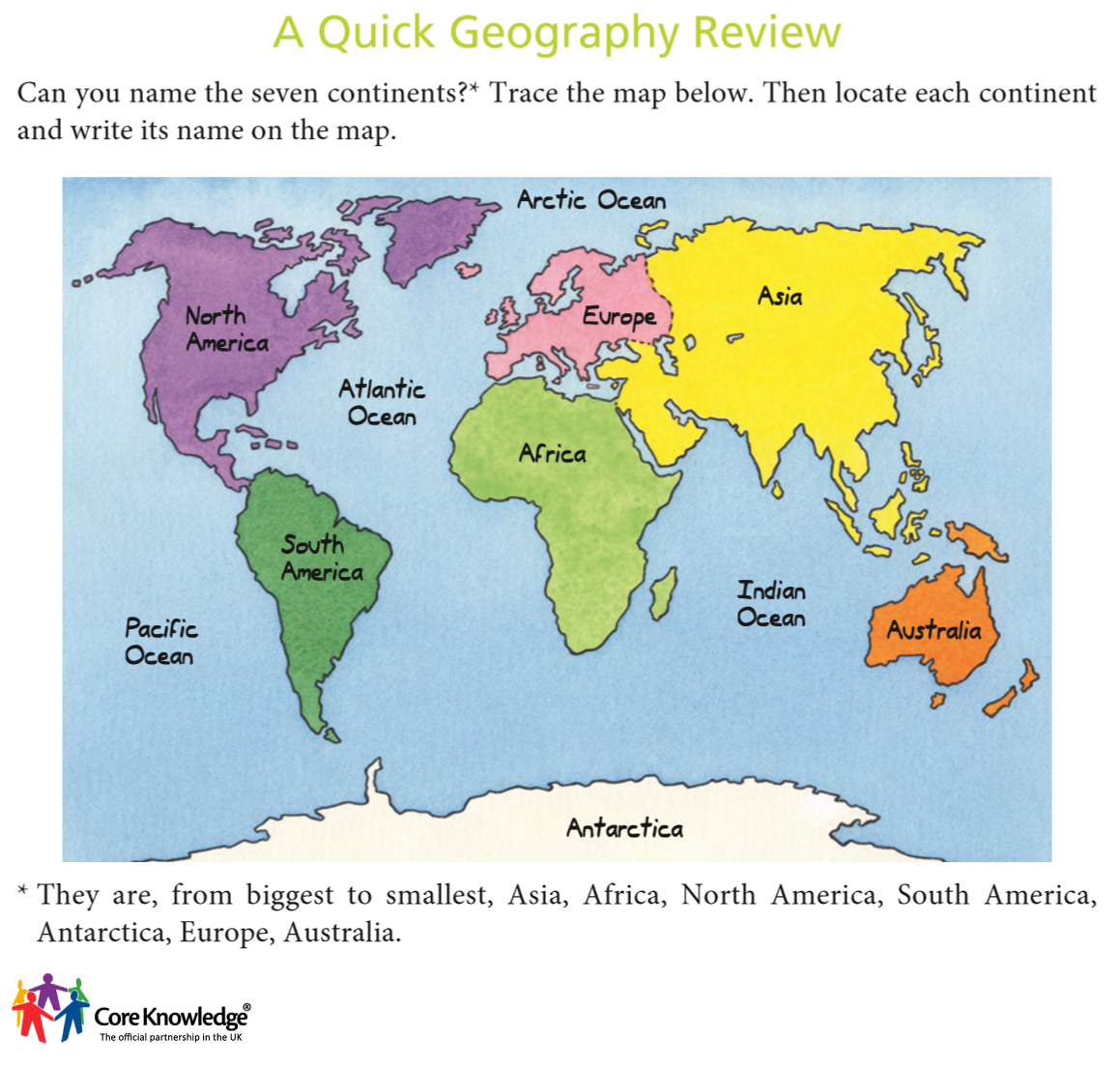 Core knowledge uk image library year three world map review gumiabroncs Image collections