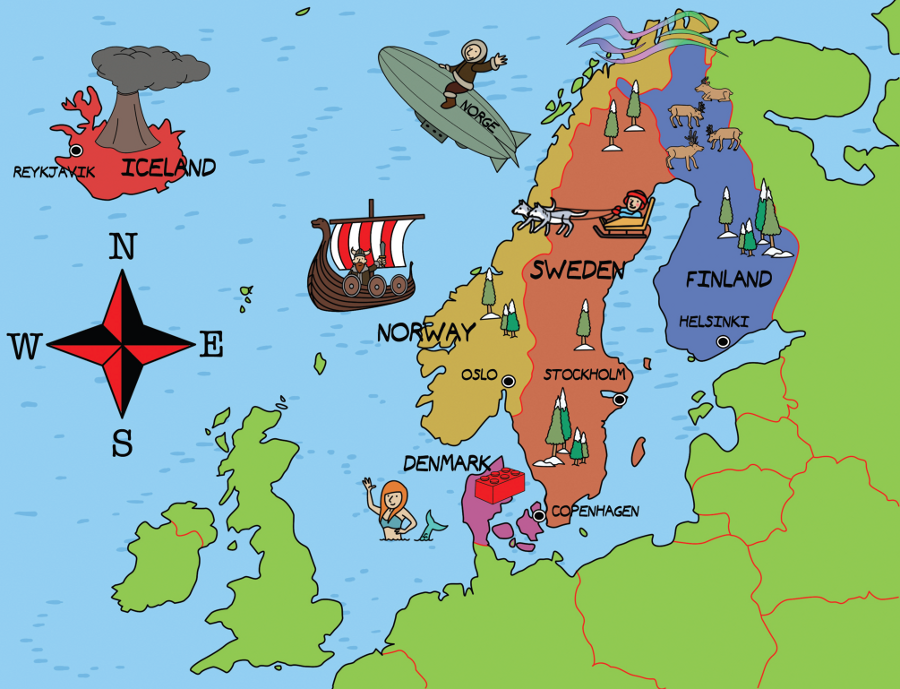 Core Knowledge - Map of scandinavia
