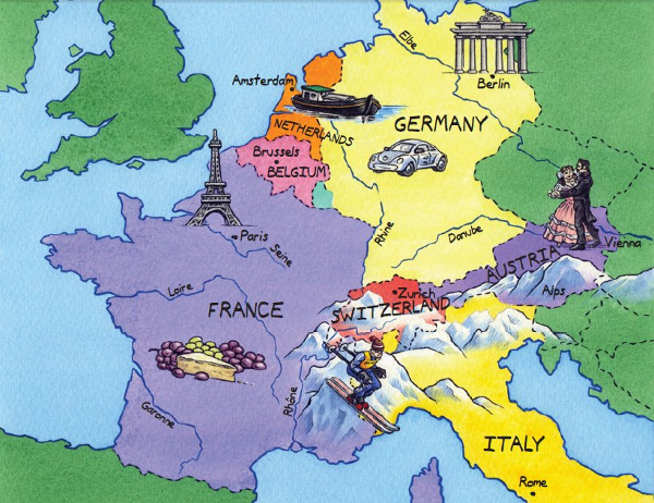 geography of western europe western europe map