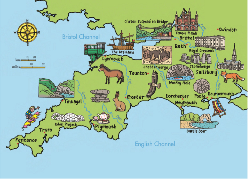 Map Of England South.Core Knowledge