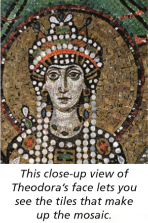 mosaic theodora close-up
