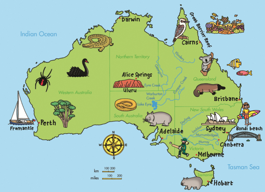 Australia Map Equator.Copy Of Australia Geography Lessons Tes Teach